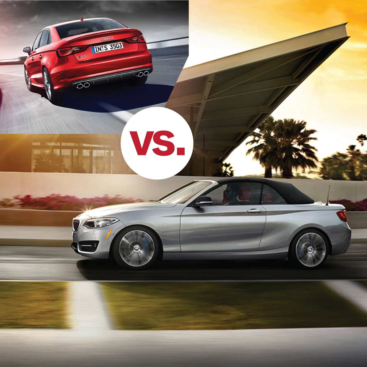 bmw 2 series convertible vs audi a3 south bmw. Black Bedroom Furniture Sets. Home Design Ideas
