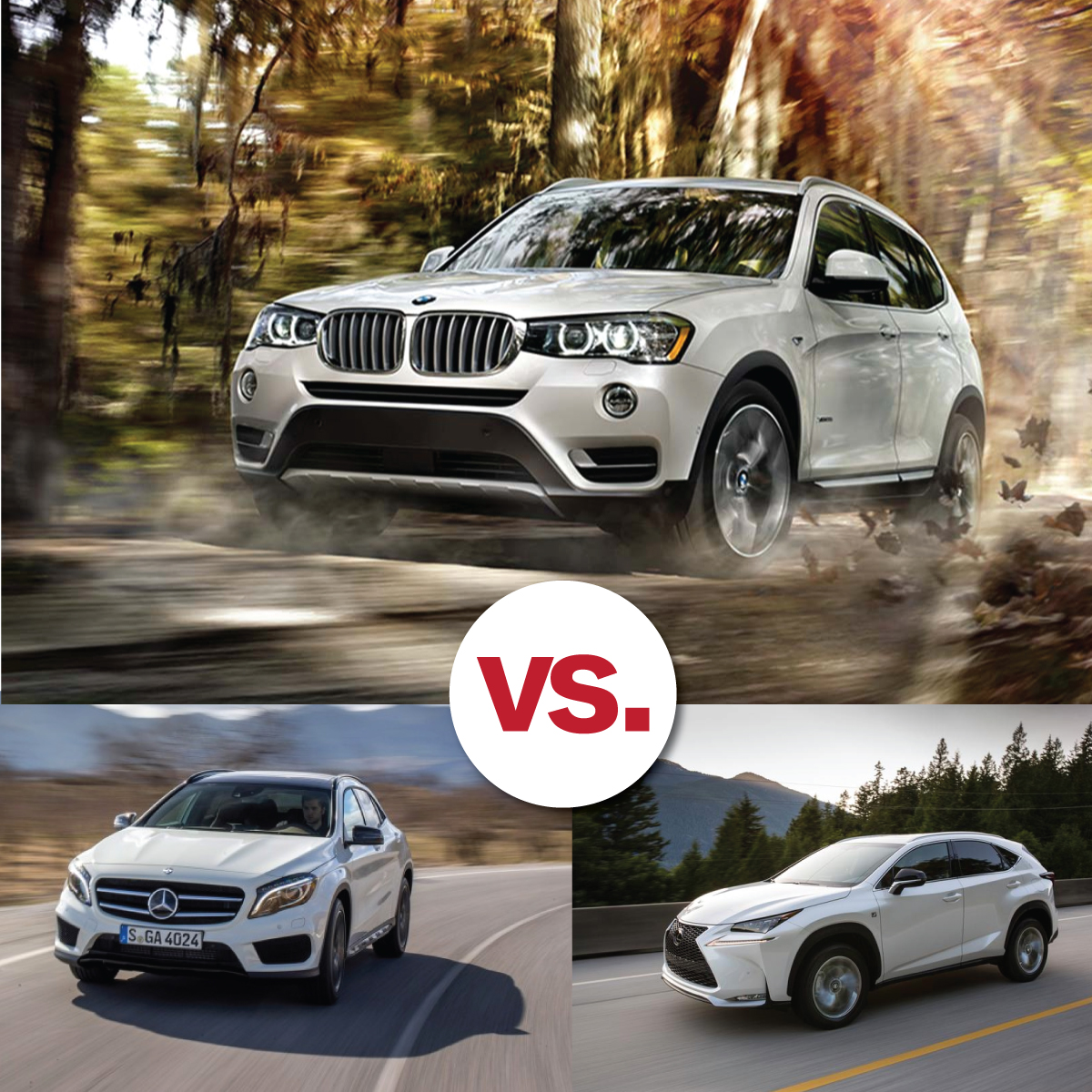 Comparison Shop Bmw X3 V Mercedes Benz V Lexus South Bmw
