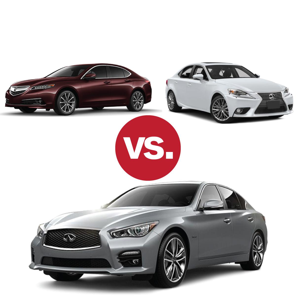 Comparison Shop: Infiniti Q50 V Lexus IS 250 V Acura TLX
