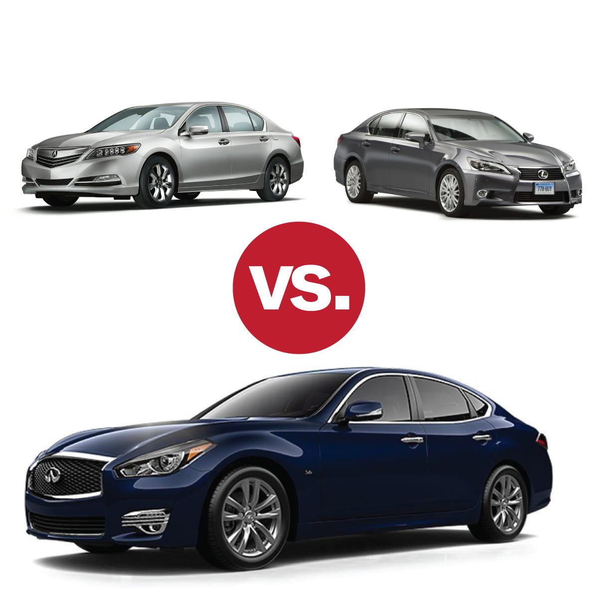 Comparison Shop: Infiniti Q70 V Lexus GS 350 V Acura RLX