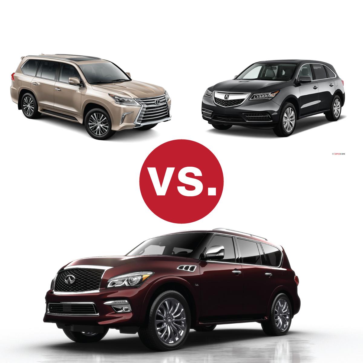 Comparison Shop: Infiniti QX80 V Lexus LX570 V Acura MDX