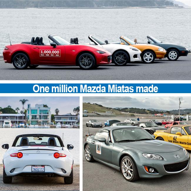 The Mazda Miata Mx 5 Makes One Million Smiles South Mazda