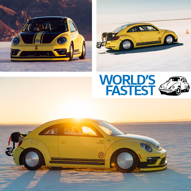 The Worlds Fastest Beetle Claims A Land Speed Record South Vw