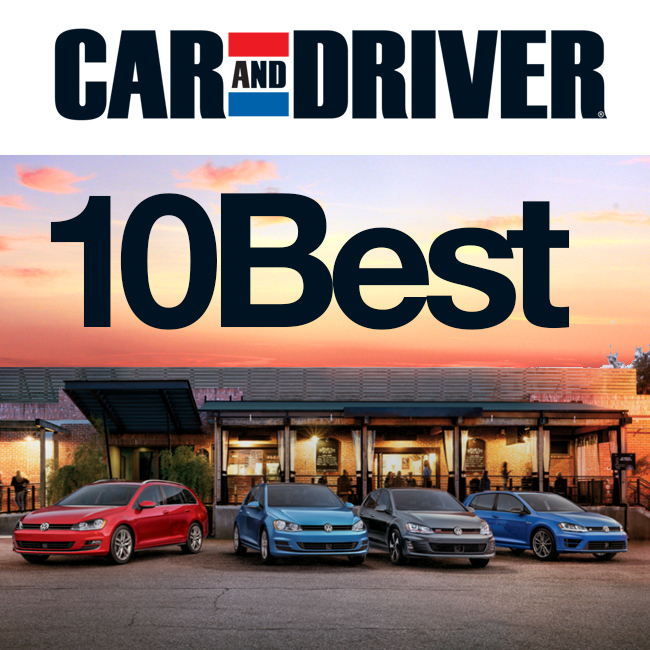 2017 Vw Golf Models Named 10best By Car And Driver