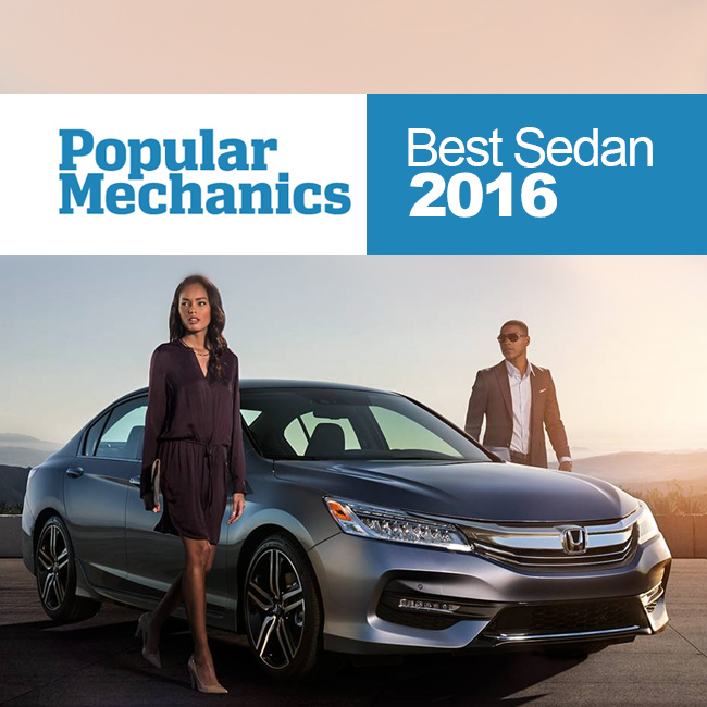 Popular Mechanics names Honda Accord 'Best Sedan of 2016'.